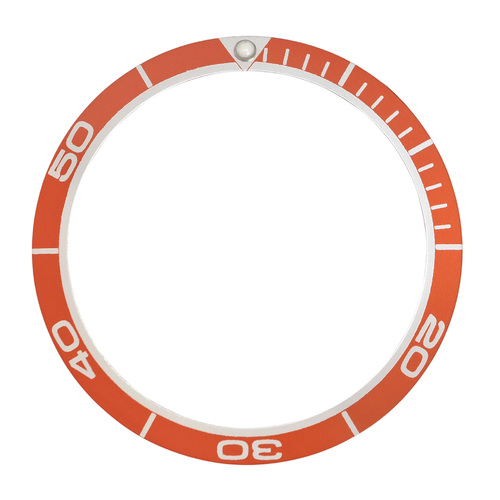 BEZEL INSERT FOR SEIKO PLANET OCEAN DIVER WATCH 38MM X 31MM ORANGE