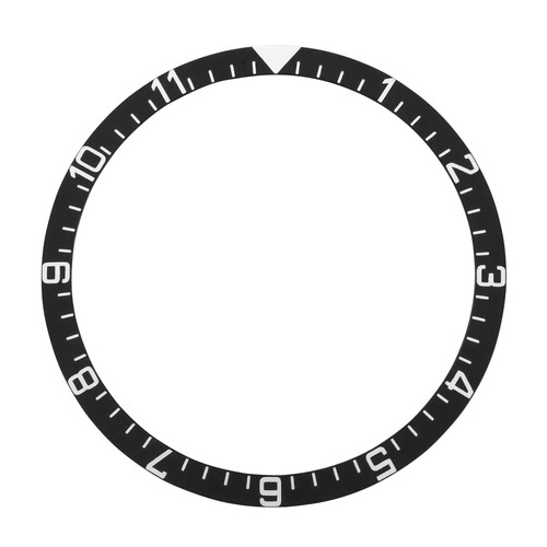 BEZEL INSERT FOR ROLEX TUDOR WATCH 39MM X 32.50MM BLACK