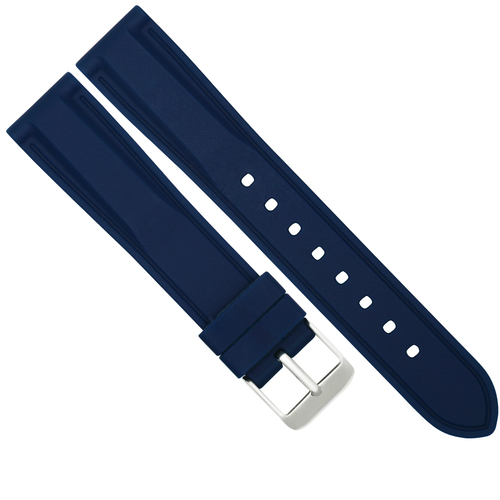 18MM RUBBER DIVER WATCH BAND STRAP FOR TAG HEUER FORMULA F1 AQUARACER WATCH BLUE