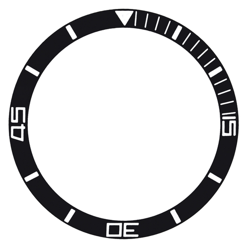 REPLACEMENT BEZEL INSERT BLACK FOR WATCH 29.70M X 25MM
