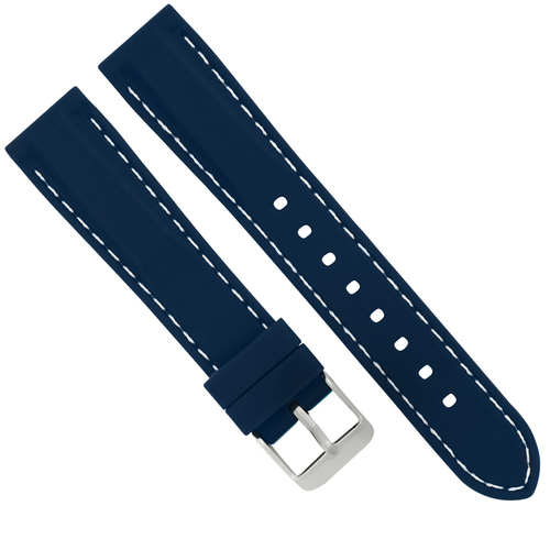 18MM RUBBER DIVER WATCH BAND STRAP FOR TAG HEUER FORMULA F1 WATCH BLUE WS