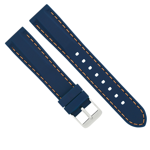 18MM RUBBER DIVER WATCH BAND STRAP FOR TAG HEUER FORMULA F1 WATCH BLUE OS