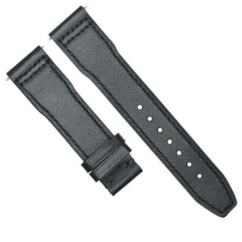 20MM LEATHER WATCH STRAP BAND  FOR IWC PILOT PORTUGUESE  3714-47  TOP GUN BLACK