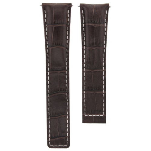 22MM LEATHER WATCH BAND STRAP FOR TAG HEUER CARERRA MONACO WATCH DARK BROWN WS