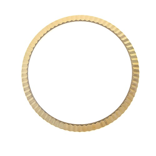FLUTED BEZEL FOR ROLEX NEW MODEL DATEJUST CIRCA 116200 116233 116234 GOLD PLATED