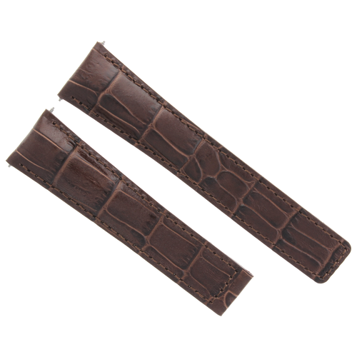 22MM LEATHER WATCH BAND STRAP CLASP FOR TAG HEUER CARERRA MONACO DARK BROWN