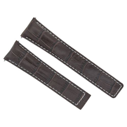 20MM LEATHER WATCH BAND STRAP DEPLOYMENT FOR TAG HEUER CARERRA DARK BROWN WS
