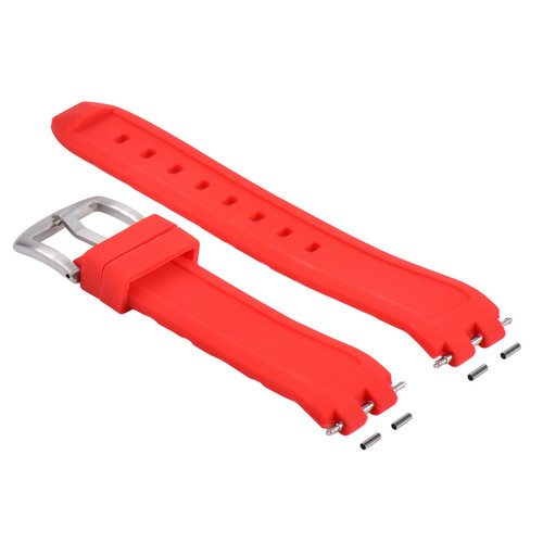 SILICONE RUBBER DIVER WATCH STRAP BAND FOR PEBBLE WATCH  STEEL SILVER BUCKLE