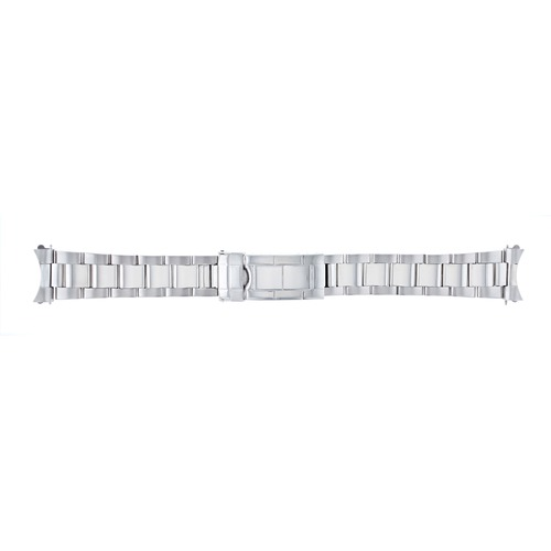 OYSTER WATCH BAND ROLEX SUBMARINER 16610 16800 SHINY CENTER FLIP LOCK T.QUALITY