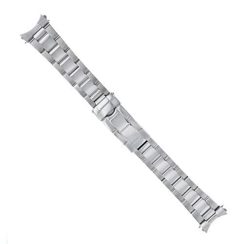 OYSTER WATCH BAND FOR BU 7200 DUAL TIME QUARTZ SHINY CENTER FLIP LOCK