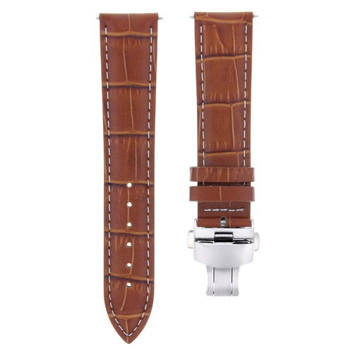 17,18,19,20,20,21,22MM LEATHER BAND STRAP DEPLOYMENT CLASP FOR ROLEX 3B