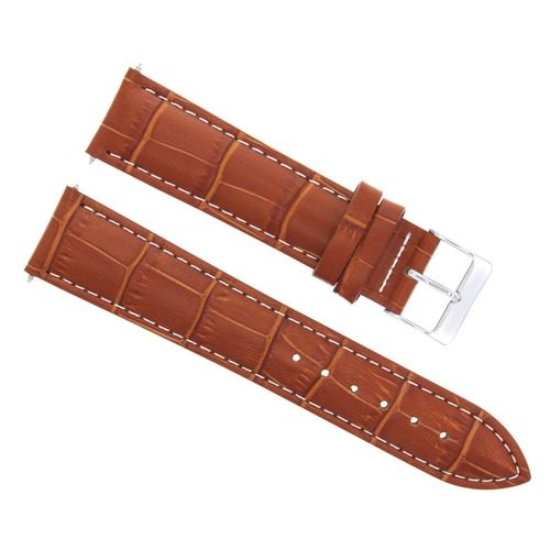 22MM LEATHER WATCH BAND STRAP FOR CITIZEN ECODRIVE WATCH BL5250-02L TAN WHITE ST