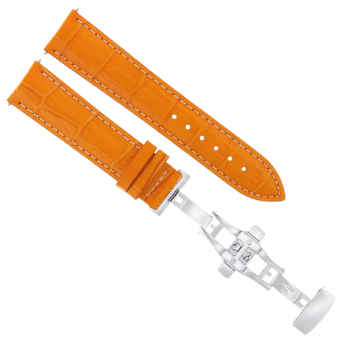 23MM LEATHER WATCH BAND STRAP DEPLOYMENT CLASP FOR ROLEX WATCH