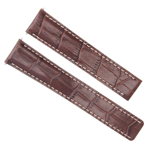 22MM LEATHER BAND WATCH STRAP FOR BREITLING NAVITIMER AVENGER COLT BENTLEY BROWN