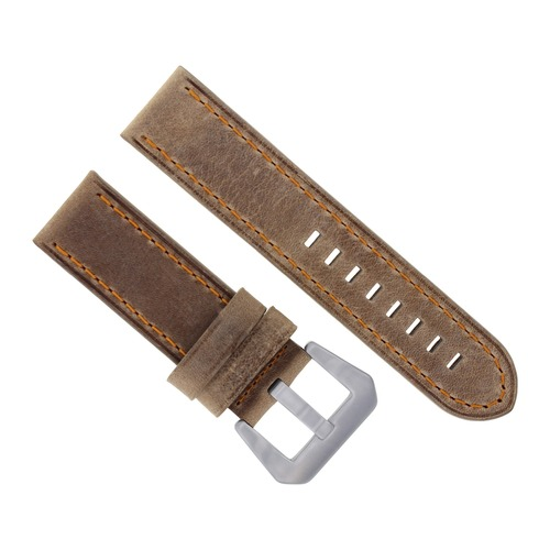22MM LEATHER STRAP WATCH BAND FOR BREITLING NAVITIMER CHRONOMAT SAND ORANGE STIT