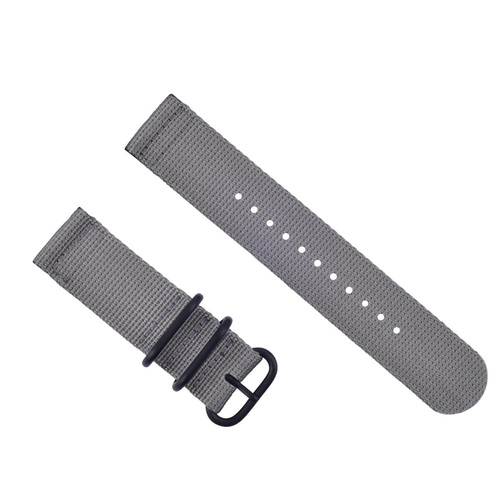 NEW SUUNTO CORE NYLON DIVER WATCH BAND LUGS ADAPTER SET BLACK 3 PVD RINGS GREY