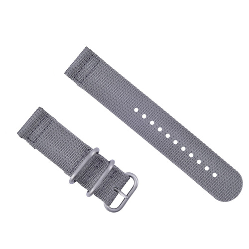 NEW SUUNTO CORE NYLON DIVER WATCH BAND STRAP GREY COLOR 3 STEEL RINGS