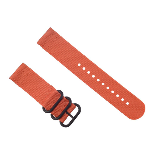 NEW SUUNTO CORE NYLON DIVER WATCH BAND LUGS ADAPTER SET BLACK 3 PVD RINGS ORANGE