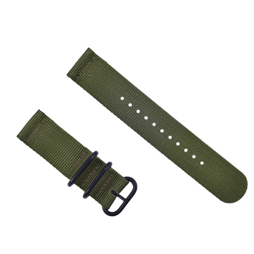 NEW SUUNTO CORE NYLON DIVER WATCH BAND LUGS SET BLACK 3 PVD RINGS ARMY GREEN