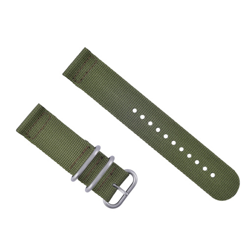 SUUNTO CORE NYLON DIVER WATCH BAND LUGS ADAPTER MILITARY GREEN 3 RING ARMY GREEN