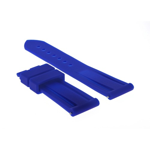 22MM RUBBER DIVER WATCH BAND DEPLOYMENT BUCKLE CLASP FOR 40MM PANERAI BLUE #2