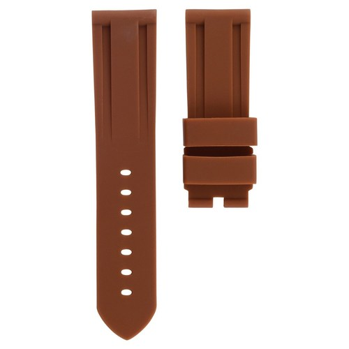 22MM RUBBER DIVER WATCH BAND FOR PAM PANERAI RADIOMIR LUMINOR MARINA BROWN #2