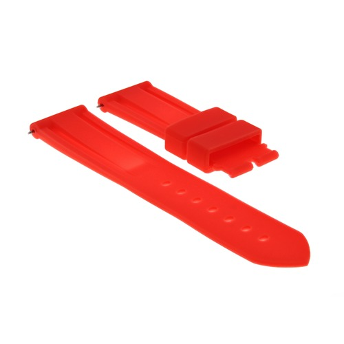 22MM RUBBER DIVER WATCH BAND DEPLOYMENT BUCKLE CLASP FOR 40MM PANERAI RED #2