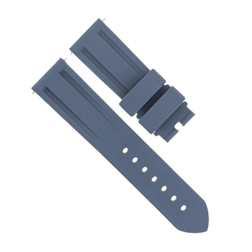 24MM RUBBER WATCH STRAP BAND DIVER FOR PANERAI MARINA LUMINOR RADIOMIR GMT GREY
