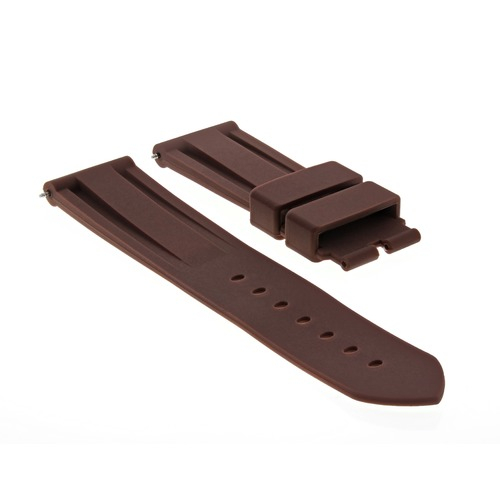 24MM RUBBER DIVER STRAP BAND DEPLOYMENT CLASP BUCKLE FOR PANERAI