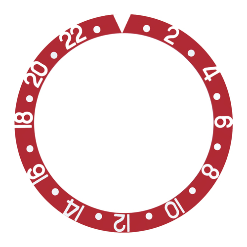 BEZEL INSERT FOR ROLEX GMT WATCH 1670,1675,16750,16753,16758 RED