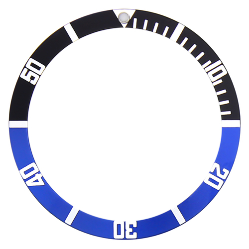 BEZEL INSERT FOR SEIKO WATCH 6105 7002 6309 7S26 6306-7001 BATMAN BLACK/BLUE