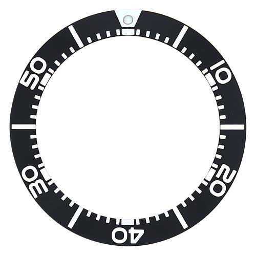 BEZEL INSERT FOR MENS SEIKO SOLAR CHRONOGRAPH SCZ015 SC015 WATCH BLACK