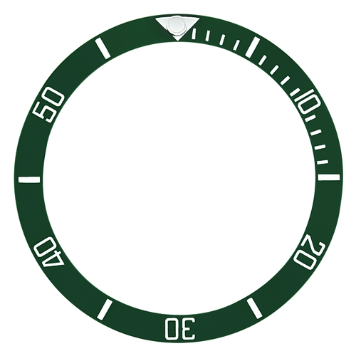 BEZEL INSERT CERAMIC FOR ROLEX SUBMARINER ENGRAVED NUMBER GREEN TOP QUALITY