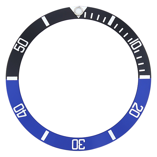 BEZEL INSERT FOR ROLEX SUBMARINER 16800 16808 16610 16818 BATMAN BLACK/BLUE
