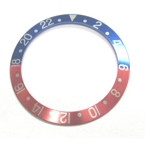 BEZEL INSERT FOR ROLEX GMT WATCH 16700 16710 16713 16718 16760 BLUE/RED FADED