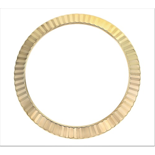 FLUTED  BEZEL FOR 41MM ROLEX DATEJUST II 116300, 116333, 116334 + GASKET GOLD