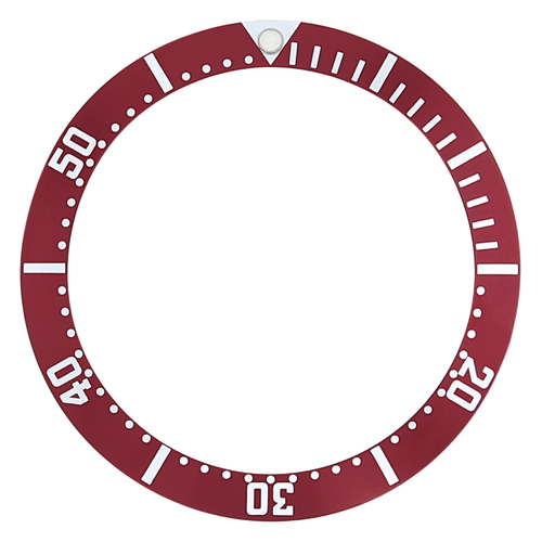 BEZEL INSERT FOR OMEGA SEAMASTER 2531.80 2532.80 PROFESSIONAL BOND DARK RED