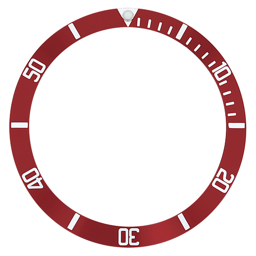 REPLACEMENT BEZEL INSERT RED FOR WATCH 39.80MM X 32.80MM