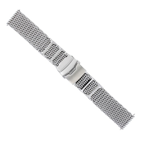 22MM SHARK MESH 4MM THICK STAINLESS STEEL WATCH BAND FOR 40MM PANERAI H LINK