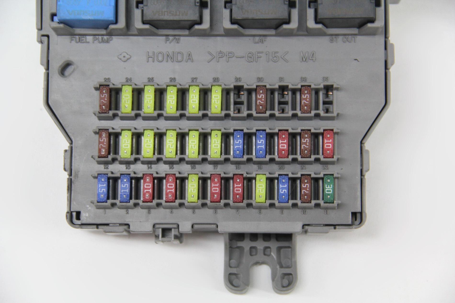 acura tsx 07 fuse box interior under dash control relay 38200-sec ... 07 acura tsx fuse box  extreme auto parts