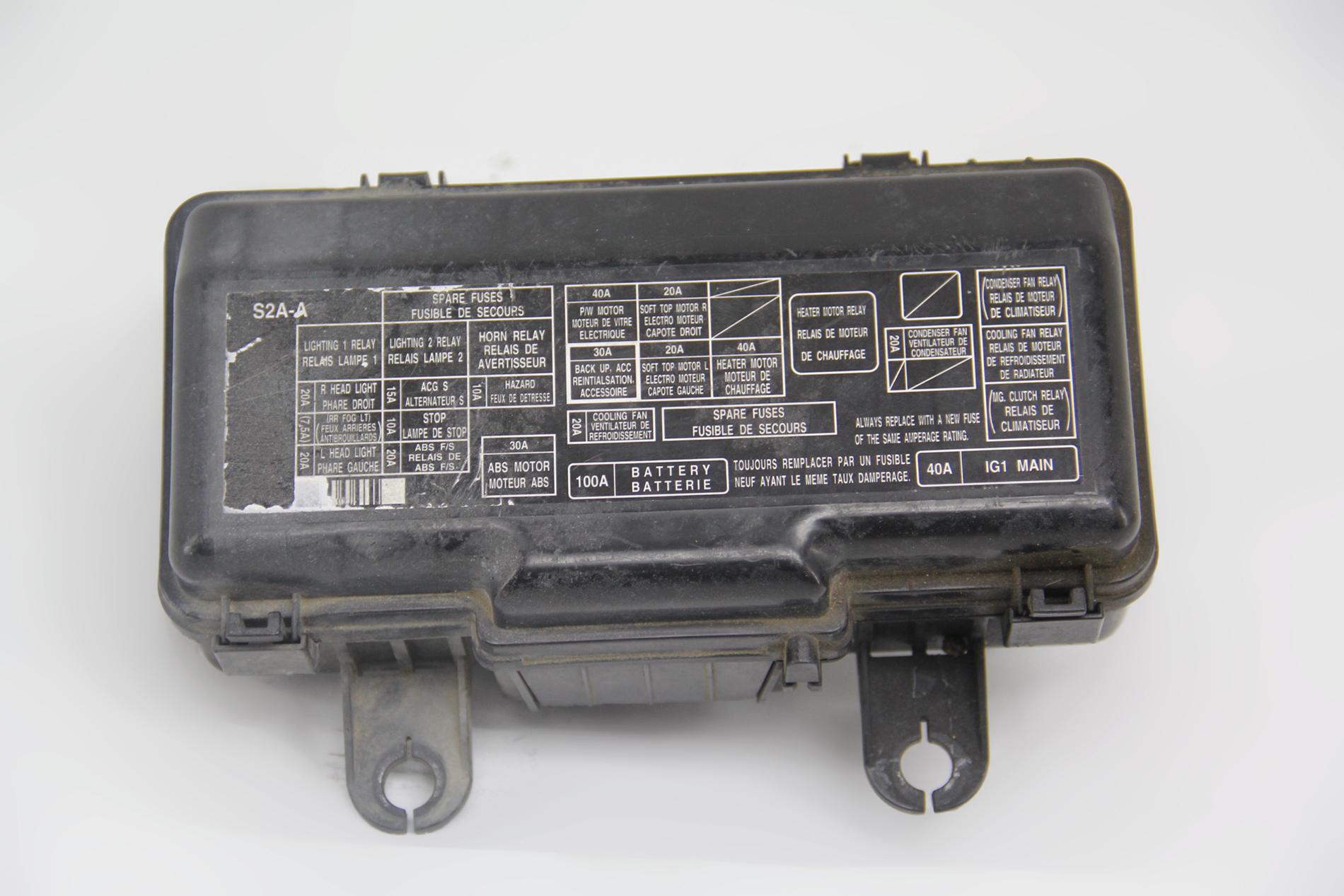 2001 Mazda Mpv Under Dash Fuse Box Diagram
