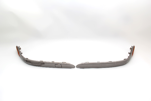 Mercedes Kompressor C230 Coupe 02-05 Rear Bumper Cover Molding Silver SET