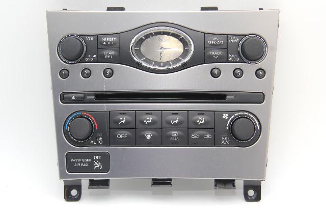 Infiniti G37 Audio Climate Display Control Unit Module 25391-JK63B OEM 2010