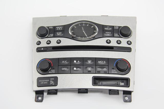 Infiniti G37 Audio Climate Display Control Unit Module 25391-JK64B OEM 08 09