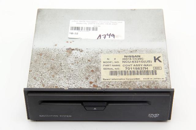 Infiniti QX56 Navigation CD DVD Player Unit Assembly 25915-CC26C OEM 2007