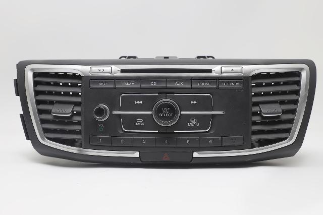Honda Accord Hybrid Radio CD Changer Player AUX Phone 39101-T3W-A02 OEM 2017