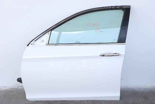 Honda Accord Sedan 13-17 Front Door Assy Left Side White 67050-T2A-A90 A661 2013, 2014, 2015, 2016, 2017