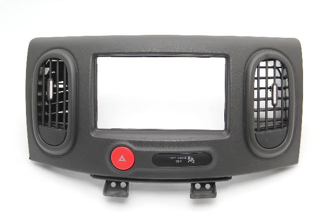 Nissan Cube Dash Radio Bezel Trim Black Hazard Vent Center 68260-1FC0B OEM 09-14
