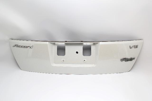 Honda Accord Sedan Trunk Deck Luggage Lid Garnish Trim White OEM 08-10
