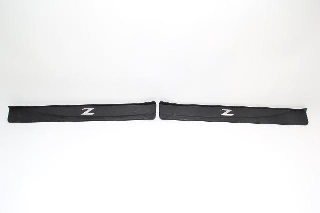 Nissan 370Z Scuff Plate Rocker Left/Right Set Black OEM 09 10 11 12 13 14 15 16